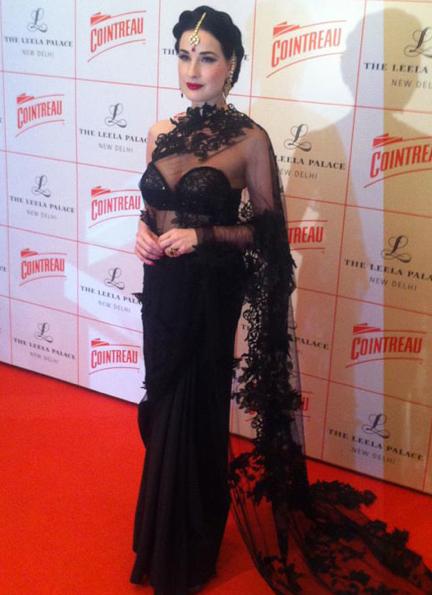 Celebrity Fashion Dita Von Teese Rocks A Sari At An Event In New Delhi