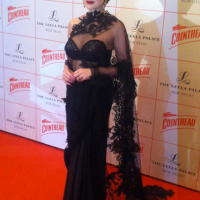 [CELEBRITY FASHION] Dita Von Teese Rocks A Sari At An Event In New Delhi