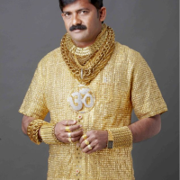 £14,000 for a REAL GOLD shirt to impress the ladies.